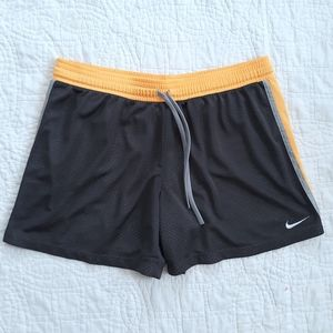 Nike Athletic Mesh Shorts size XL Gray Yellow
